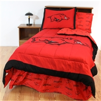 Arkansas Razorbacks Bed in a Bag Twin  with Team Colored Sheets