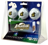 Appalachian State Mountaineers Slider Hat Clip 3 Ball Gift Pack