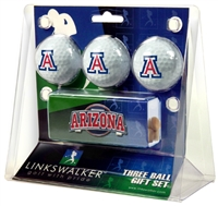 Arizona Wildcats Slider Hat Clip 3 Ball Gift Pack