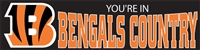 Cincinnati Bengals You're In Bengals Country NFL 8' x 2' Giant Banner