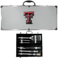 College 8 Piece BBQ Set - Texas Tech Raiders