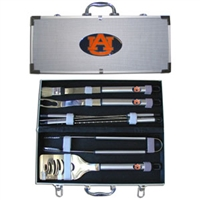 College 8 Piece BBQ Set - Auburn Tigers
