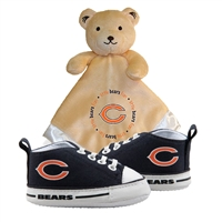 Chicago Bears NFL Infant Blanket and Shoe Set