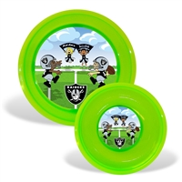 Baby Fanatic Oakland Raiders NFL Toddler Plate and Bowl Set