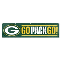 Green Bay Packers NFL 8' x 2' Giant Banner