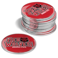 Arkansas State Red Wolves 12 Pack Collegiate Ball Markers