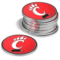 Cincinnati Bearcats 12 Pack Collegiate Ball Markers