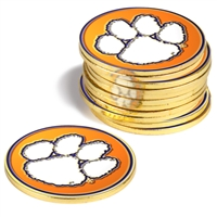 Clemson Tigers 12 Pack Collegiate Ball Markers