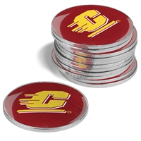 Central Michigan Chippewas 12 Pack Collegiate Ball Markers