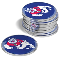 Fresno State Bulldogs 12 Pack Collegiate Ball Markers