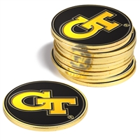 Georgia Tech Yellow Jackets 12 Pack Collegiate Ball Markers