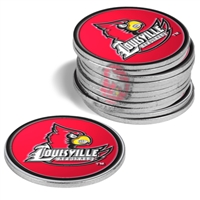 Louisville Cardinals 12 Pack Collegiate Ball Markers