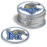 Memphis Tigers 12 Pack Collegiate Ball Markers