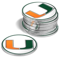 Miami Hurricanes 12 Pack Collegiate Ball Markers