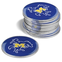 McNeese State Cowboys 12 Pack Collegiate Ball Markers