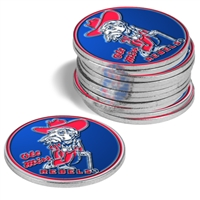 Mississippi Ole Miss Rebels 12 Pack Collegiate Ball Markers