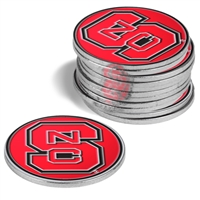 North Carolina State Wolfpack 12 Pack Collegiate Ball Markers