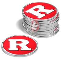 Rutgers Scarlet Knights 12 Pack Collegiate Ball Markers