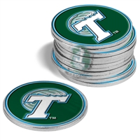 Tulane Green Wave 12 Pack Collegiate Ball Markers