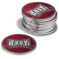 Troy Trojans 12 Pack Collegiate Ball Markers