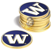 Washington Huskies 12 Pack Collegiate Ball Markers