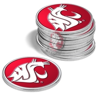 Washington State Cougars 12 Pack Collegiate Ball Markers