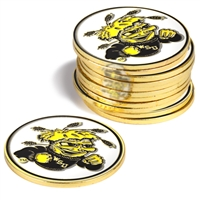 Wichita State Shockers 12 Pack Collegiate Ball Markers