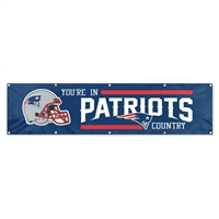 New England Patriots NFL 8' x 2' Giant Banner