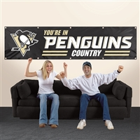 Pittsburgh Penguins 8' x 2' Giant Banner