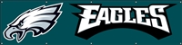 Philadelphia Eagles NFL 8' x 2' Giant Banner