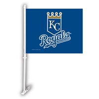 Kansas City Royals MLB Car Flag W/Wall Brackett
