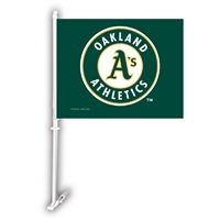 Oakland Athletics MLB Car Flag W/Wall Brackett