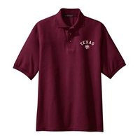 Texas A&M Aggies NCAA Small Arch Logo Silk Touch Maroon Sport Polo (Small)