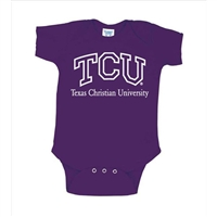 Texas Christian Horned Frogs NCAA Purple Infant Creeper