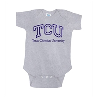 Texas Christian Horned Frogs NCAA Grey Infant Creeper (24M)