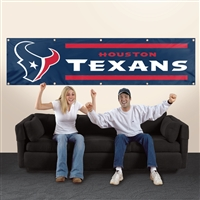 Houston Texans NFL 8' x 2' Giant Banner