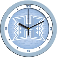 "Hawaii Warriors 12"" Wall Clock - Blue"