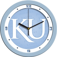 "Kansas Jayhawks 12"" Wall Clock - Blue"