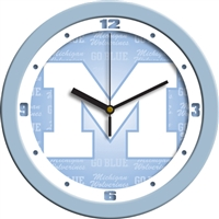 "Michigan Wolverines 12"" Wall Clock - Blue"