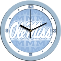 "Ole Miss Rebels 12"" Wall Clock - Blue"