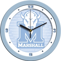 "Marshall Thundering Herd 12"" Wall Clock - Blue"