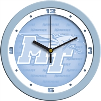 "Middle Tennessee State (MTSU) Blue Raiders 12"" Wall Clock - Blue"