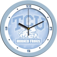 "Texas Christian Horned Frogs 12"" Wall Clock - Blue"