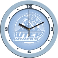 "Texas El Paso UTEP Miners 12"" Wall Clock - Blue"