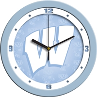 "Wisconsin Badgers 12"" Wall Clock - Blue"
