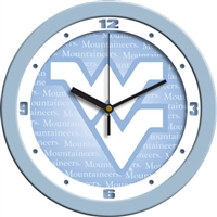 "West Virginia Mountaineers 12"" Wall Clock - Blue"
