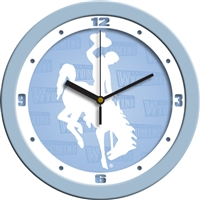 "Wyoming Cowboys 12"" Wall Clock - Blue"