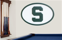 Michigan State Spartans   46 inch  Logo Wall Art 20