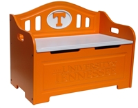 Tennessee Volunteers Painted Storage Bench