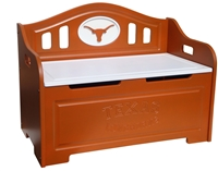 Texas Longhorns Painted Bench